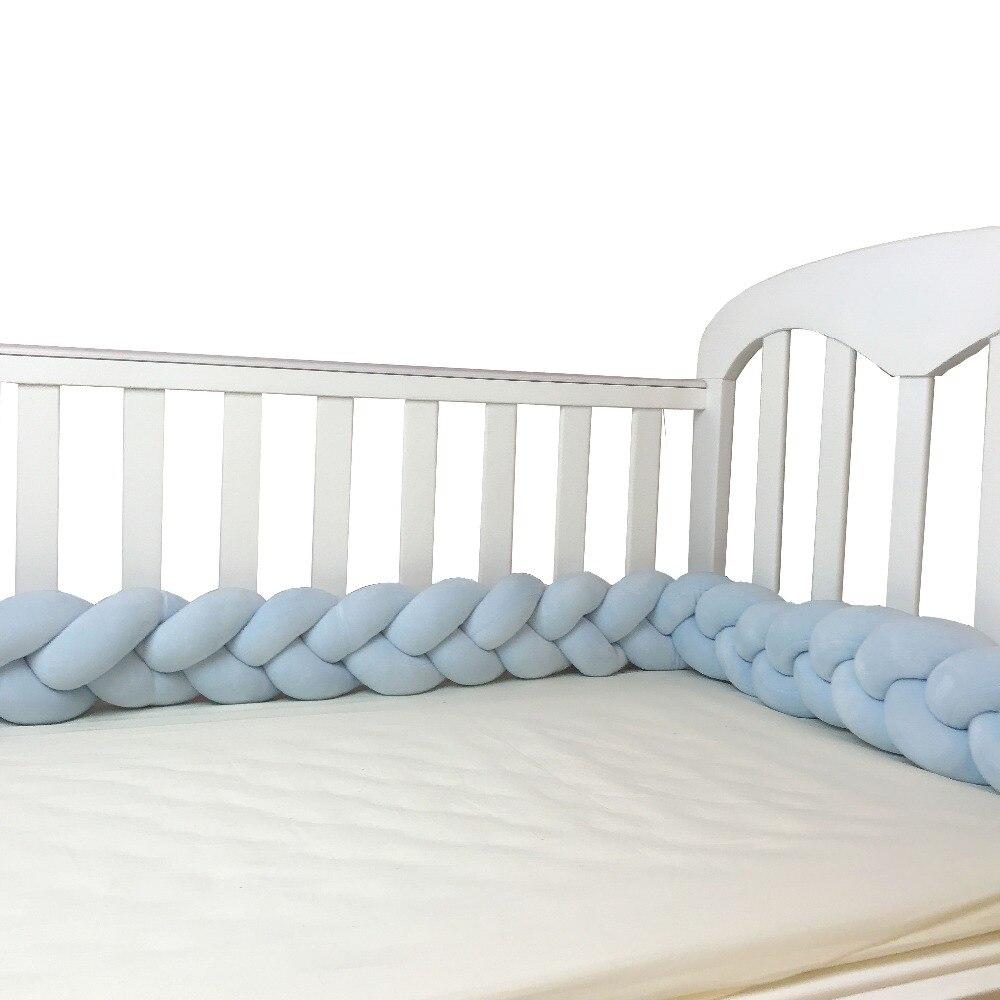 Praktisch Baby Headprotection Neugeborenen Bett Stoßfänger Bettwäsche Set Infant Cots Krippe Seiten Tour De Lit Tresse Protector Cuna Braid Protector 2 M Waren Des TäGlichen Bedarfs Baby Bettwäsche