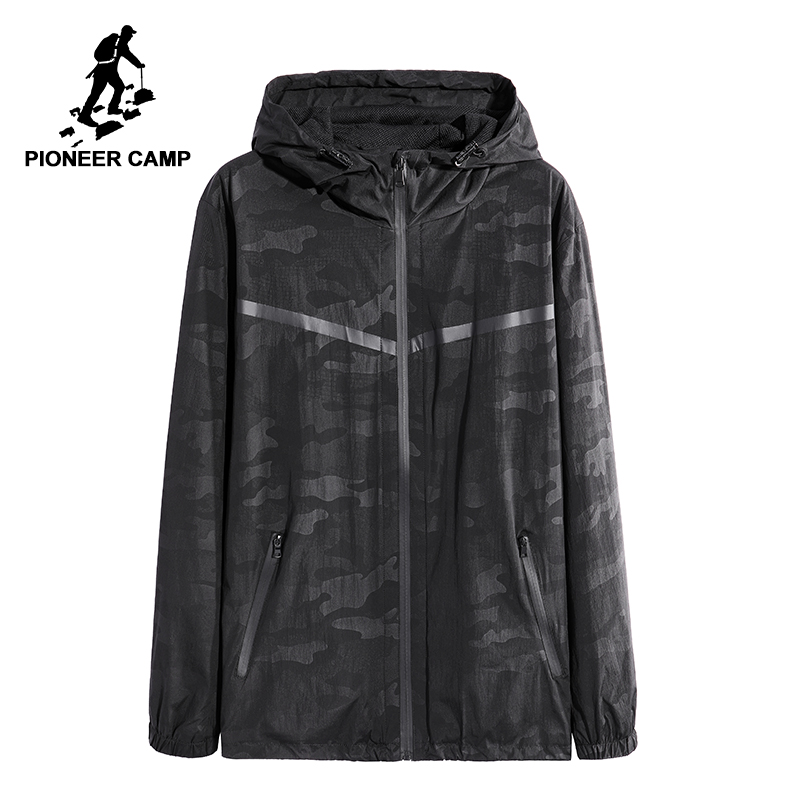 Pioneer camp new spring thin camouflage jacket men brand clothing casual breathable jacket coat male quality outerwear AJK801038