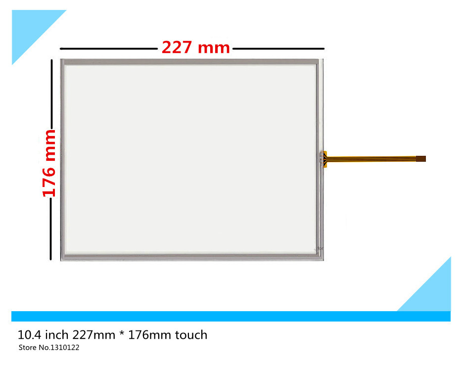 все цены на 10.4 inch 4 wire 227mm*176mm Resistive Touch Screen Digitizer for MP277-10 TP270-10 LSA40AT9001 ; Tsudakoma ZAX-N Free shipping онлайн