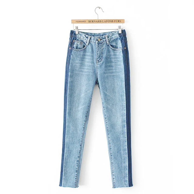 NELLBANG Vintage washed high waist skinny denim pencil ankles