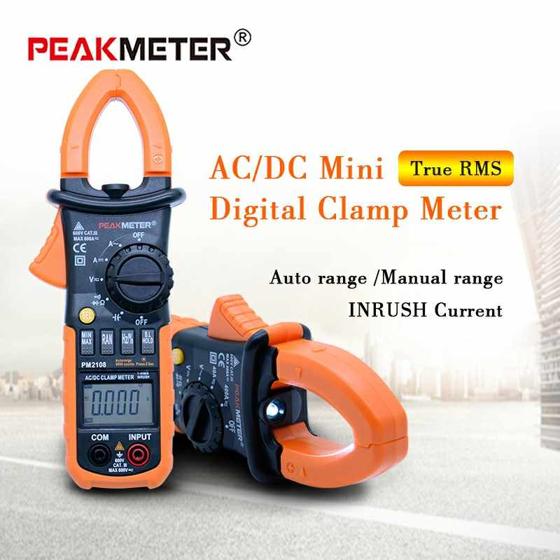 PEAKMETER PM2108A/PM2108 Digital clamp meter ac dc Mini multimeter true rms with auto power off function