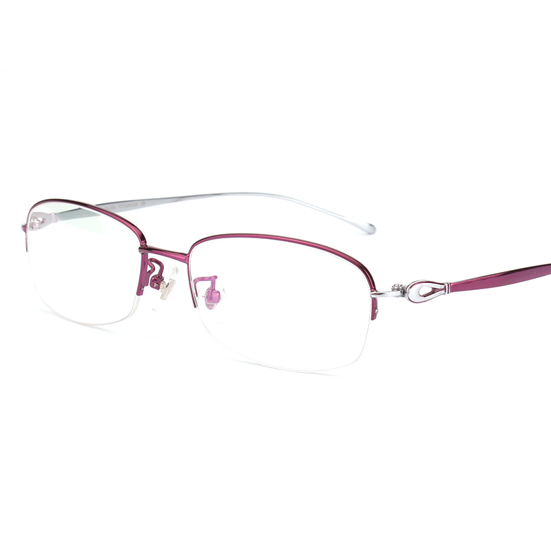 3a2ffd47e108 Opeco Pure Titanium Optical Glasses Women's RX able Eyeglasses Frame Half  Rim Myopia Eyewear Prescription Spectacles #6625-in Women's Eyewear Frames  from ...