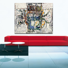 Jackson pollock Style Living Room Modern Wall Art Painting Picture Home Decor Canvas No Frame