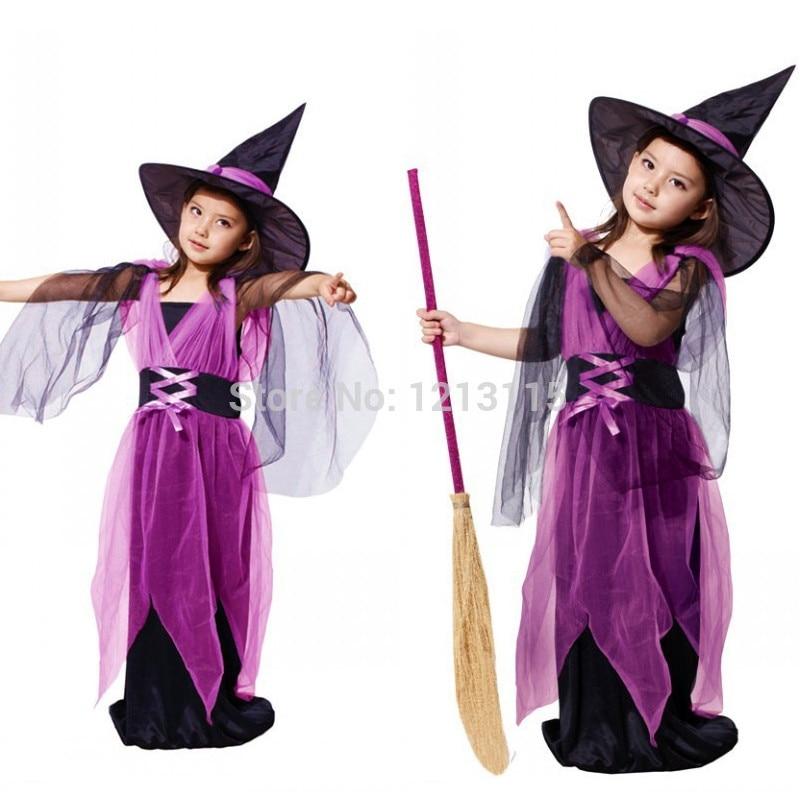 Anime Niñas bruja mago traje Halloween etapa de rendimiento vestido de los  niños del día Navidad regalo rave party Cosplay 519285d62f33