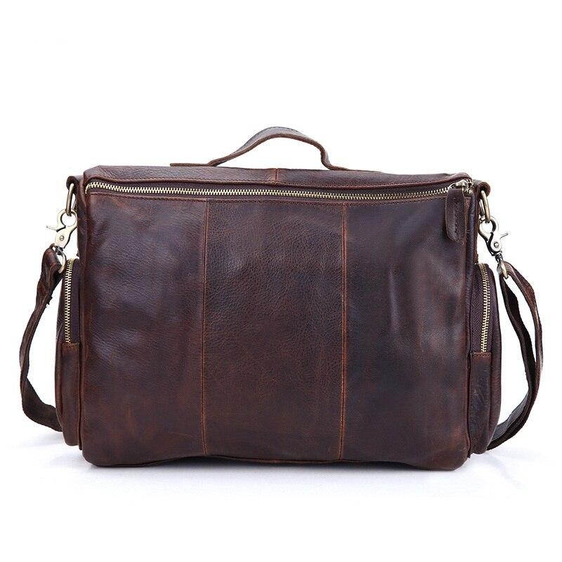 Vintage prave kože muške aktovku torbu poslovne muške laptop - Aktovke - Foto 2