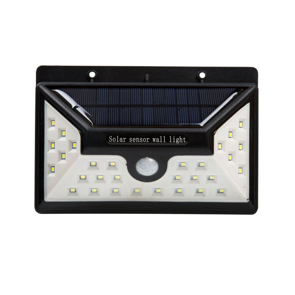 4pcs 30 LEDs Solar Powered Wall Light Outdoor IP65 Waterproof PIR Sensor Security Lamp Super Bright 550LM Garden Lighting outdoor led garden light security 90 led solar light pir motion sensor solar powered emergency wall lamp waterproof ip65