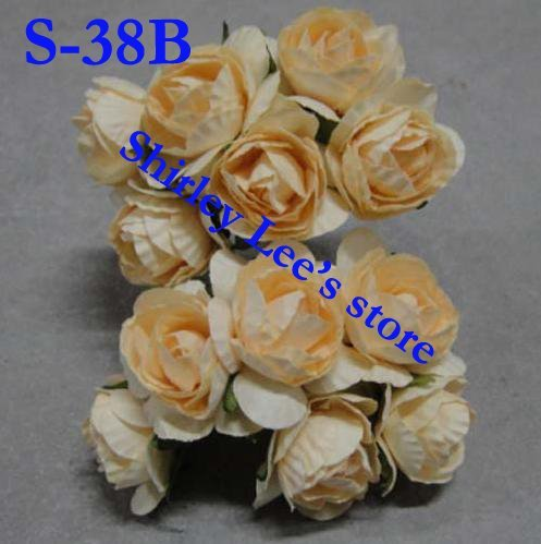 Wholesale--144 bunches=864pcs miniature  paper rose ,craft supplies, for scrapbook ,card making(Free Shipping by Express)