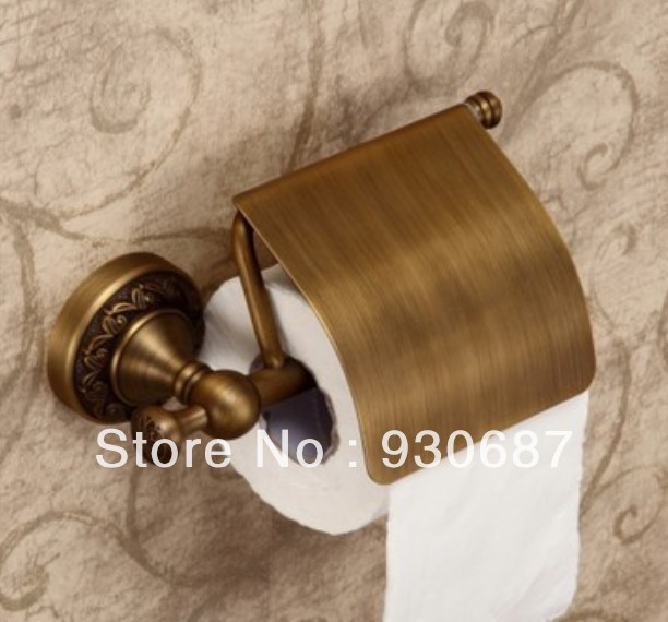 ФОТО Retro Style Autique Bronze Solid Brass Toilet Tissue Paper Holder Wall Mounted Paper Box Bathroom Accessories