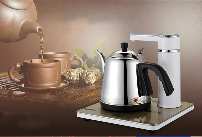 Automatic pumping electric kettle water heater tea Overheat Protection Anti-dry Protection free shipping automatic water supply electric kettle tea set pumping furnace