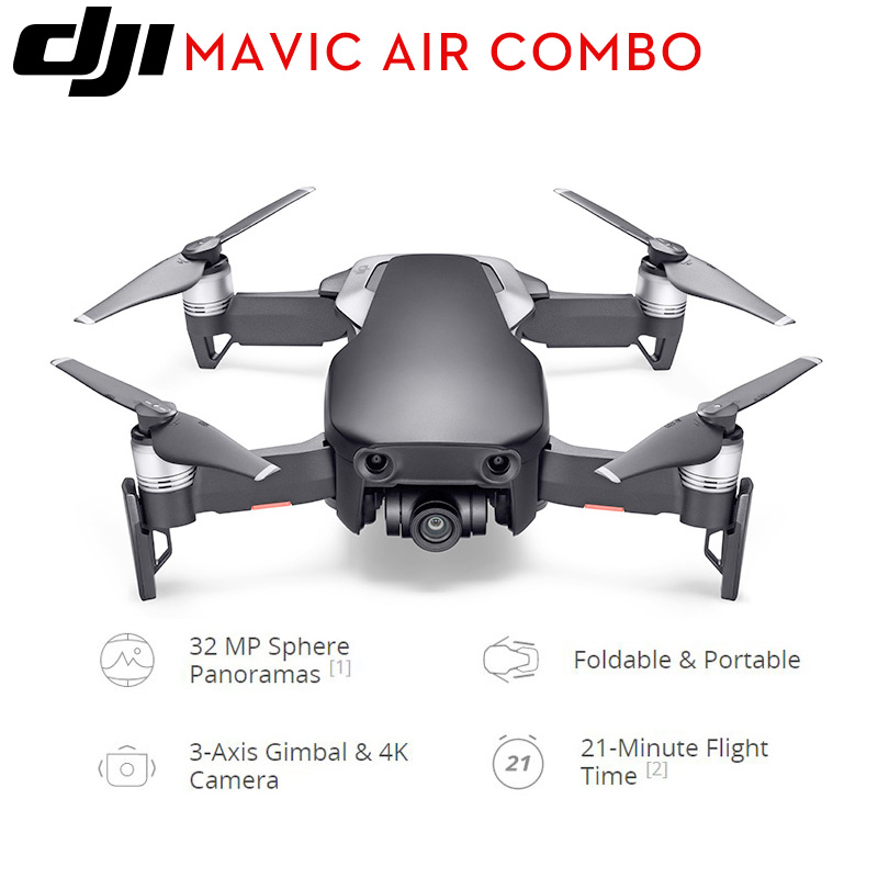 IN STOCK!! DJI Mavic Air Combo mini  RC Quadcopter  with 3-Axis Gimbal 4K Camera  ( 3 color optional )DJI new product Квадрокоптер