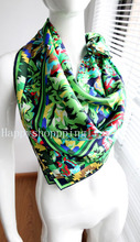 Elegant Square 14MM 100% Twill Silk Scarf  TWIC-67156(2 colours)