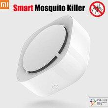 Xiaomi repelente de mosquitos inteligente Mijia, temporizador, con interruptor de detección y sincronización, luz LED que funciona con la aplicación Mi home