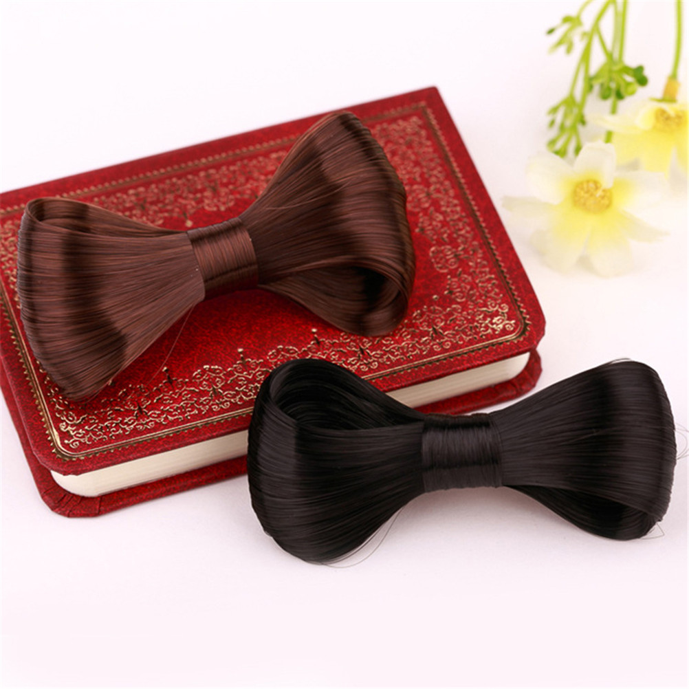 1pc 4*11cm Lovely Wig Big Bow Hairpin Popular Hair Clips Hair Accessories 5 Colors