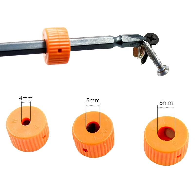 3Pcs 4/5/6mm Mini Magnetizer Ring Screwdriver Bit Magnetizer Mini Plastic Magnetic Pick Up Tool Mixed Size