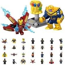 Super Heroes thanos Infinity Gauntlet Spider Iron Man Building Blocks falcon vision Figure Bricks Toy kid gift Compatible Legoed