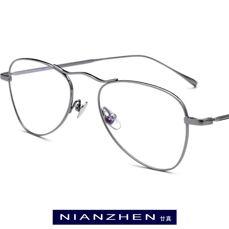 Monture de lunettes en titane pur femmes lunettes de vue optiques myopie pilote Vintage pour hommes lunettes de Spectacle Aviador Ultra légères 9118