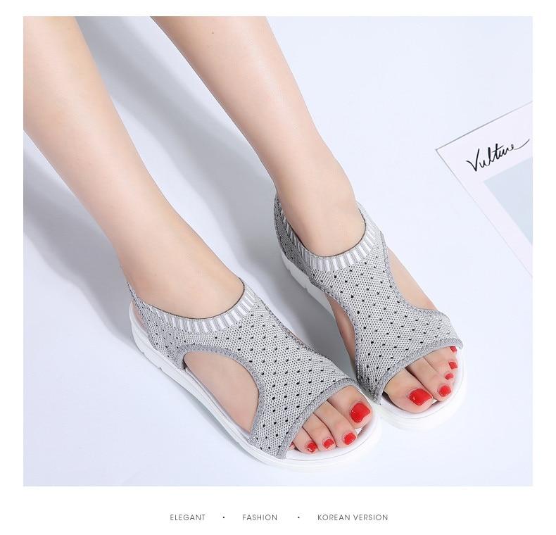 HTB1UdbruYuWBuNjSszgq6z8jVXas PINSEN Women Sandals 2019 New Female Shoes Woman Summer Wedge Comfortable Sandals Ladies Slip-on Flat Sandals Women Sandalias