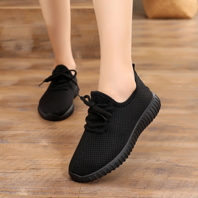 nouveau produit 9b764 fc2f6 US $6.78 34% OFF|Basket Femme 2018 Tenis Feminino Air Mesh Breathable  Ladies Footwear Women Flat Sneakers Casual Fashion Autumn Vulcanized  Shoes-in ...