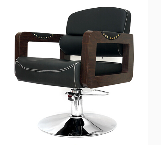 Retro Salon Hairdressing Chair. Hair Salons Dedicated Lift Can Be Adjusted. The Barber Chair