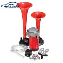Check Price Super Loud 12v Dual Trumpet Air Horn Compressor Kit Train Car Truck Boat 135db