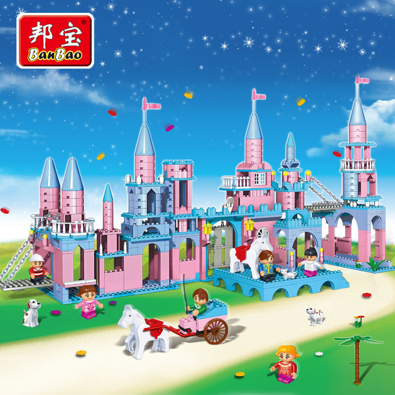 BanBao Girl Educational Toys For Children Kids Gifts Castle City Friend Pet Princess Prince Horse Compatible with Legoe hot sale 1000g dynamic amazing diy educational toys no mess indoor magic play sand children toys mars space sand