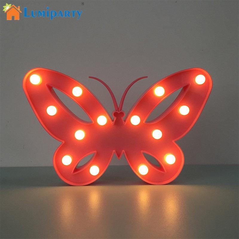 Lumiparty прекрасный индикатор 3D бабочка ночник теплый белый Настольная лампа для ребенка в детской комнате-декоративные JK25