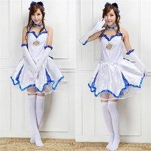 Fate/zero saber lily cosplay costume for women anime ropa de verano marinero dress party carnival costume