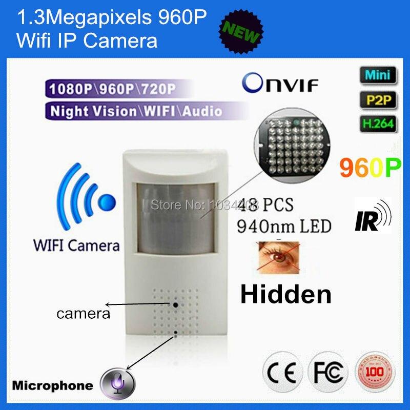 960 P детектор движения PIR Пинхол 1.3MP ПИР мини Ip Беспроводной Wifi ИК камера видеонаблюдения IP ночного видения аудио ПИР ИК IP Камера аудио