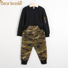 77d58e12 Bear Leader Boys Clothing Sets 2018 New Autumn Fashion Style Long Sleeve  Camouflage Printing Design for Children Clothing 3-7Y