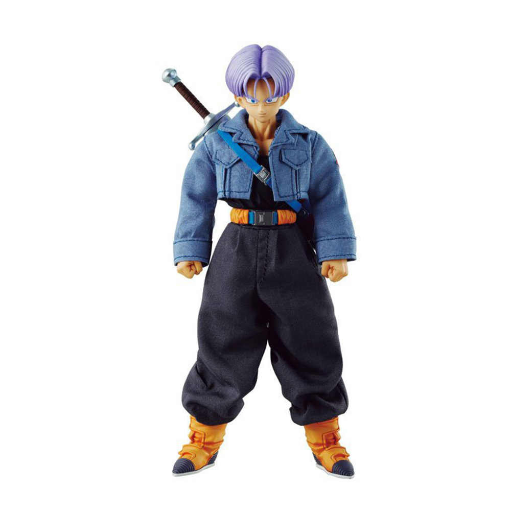 Anime Figure 21 CM Dragon Ball Z DOD Trunks Real Clothes Vegeta Son PVC Action Figure Collectible Model Toys Dolls Juguetes