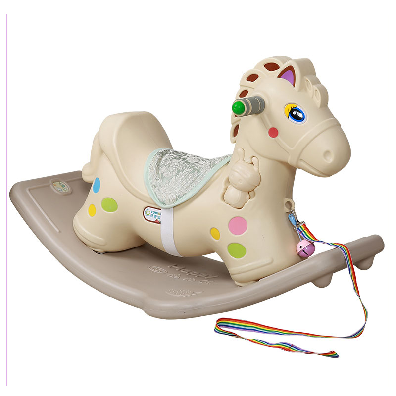 Children's Toys Plastic Rocking Horse Thickening Baby Rocking Bouncer Ride on Car Baby Room Toy with Music Riding Rocking Chair children rocking horse gift baby eating chair music ride on toy cute duck birthday walker amphibious toys 2 kinds of functions