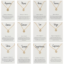 12 Constellation Necklace For Women Gold Silver Color Crystal Pendant Chains Necklace With Wish Card Fashion Jewelry Gift CN127 цена 2017