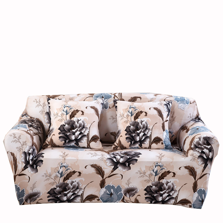 Universal Flowers Sofa Covers For Living Room Multi size