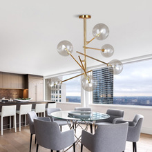현대 성격 마술 콩 유리 펜던트 램프 디자이너 나뭇 가지 유리 공 매달려 램프 현대 전등