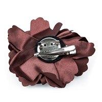 LICG Hot Pin Barrette in Peony Flower for Girls Women (Coffee)