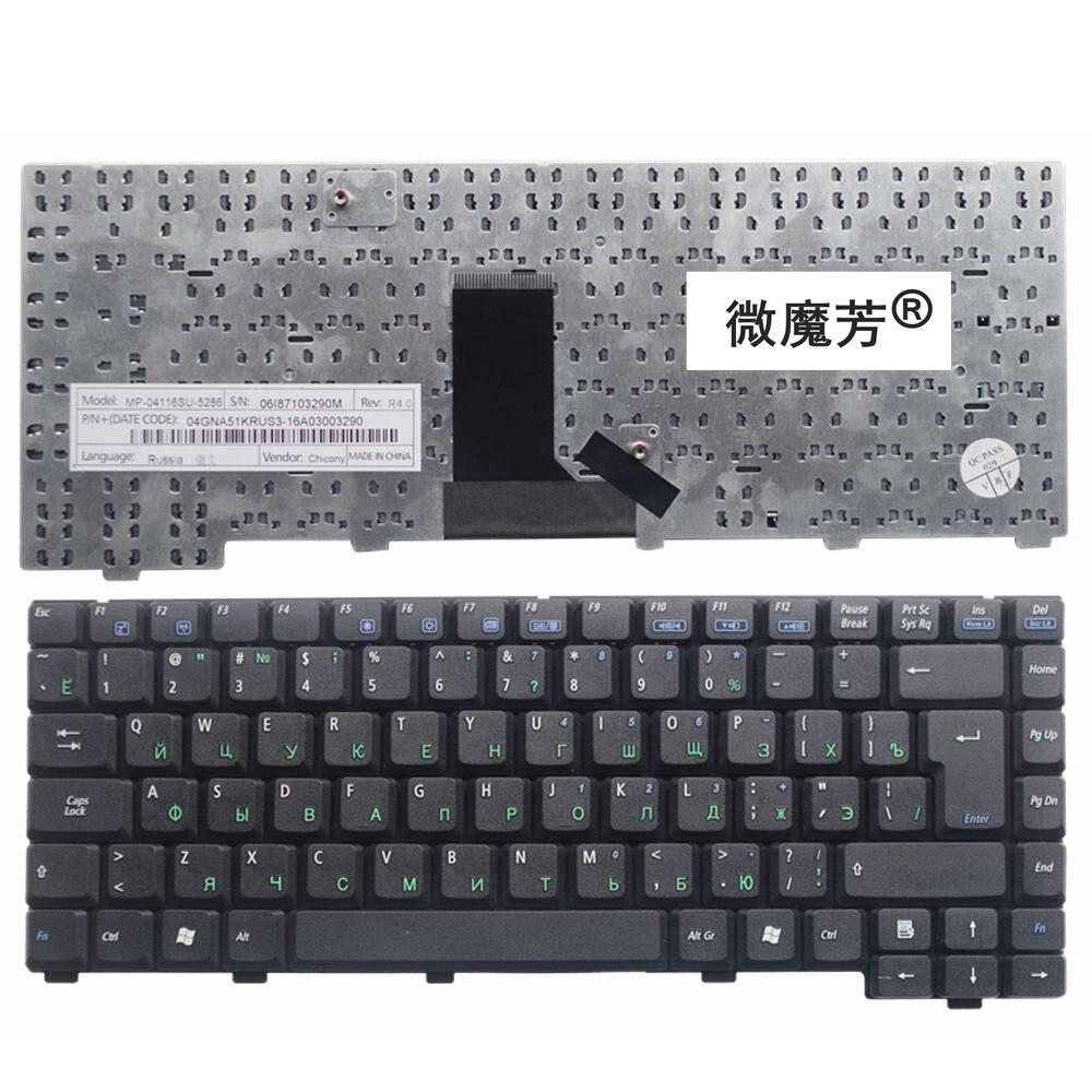 RU Black New FOR ASUS A6Km A6Kt A6L A6M A6Ne A6Vc A6Vm A6Rp A6Tc  A6Vm A6Rp A6T A6V A6J A6JC A3 Laptop Keyboard Russian