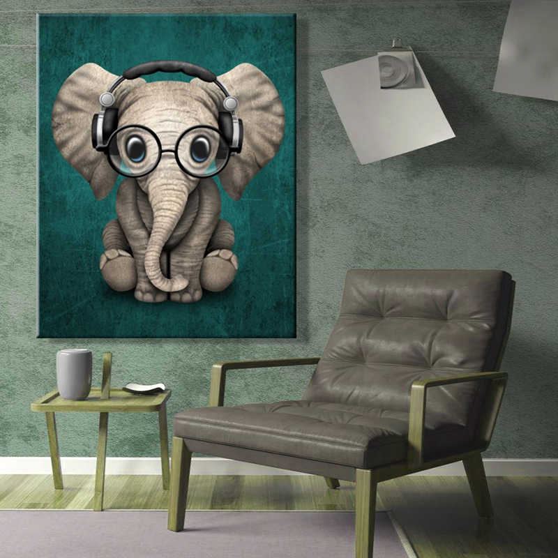 paint by number art painting by numbers Elephant Realism Handmade Amusing Living room decorative hanging pictures  Animal