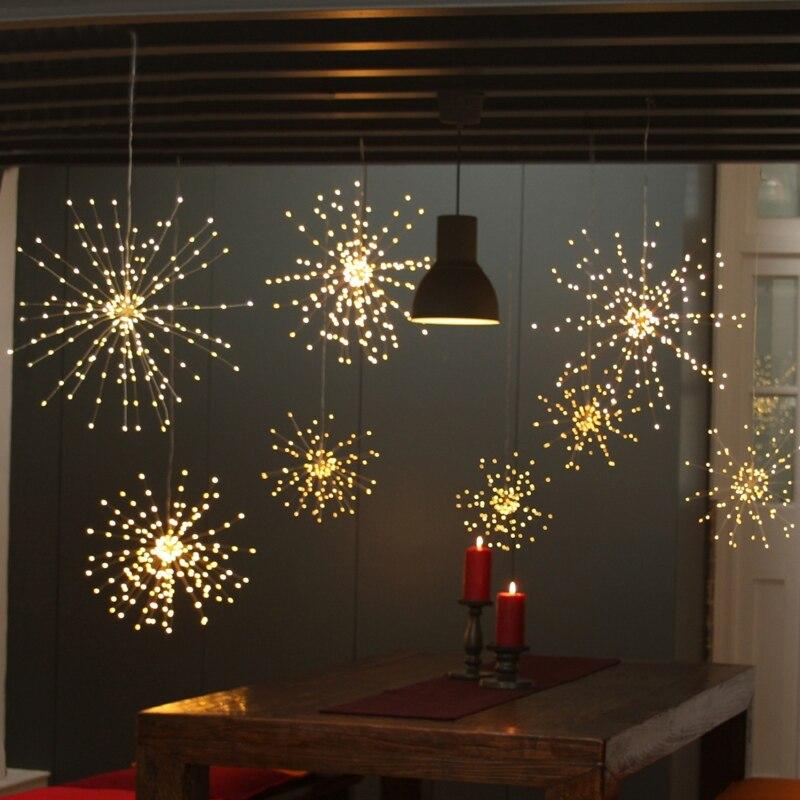LED Strings Solar Fireworks Light Led Copper Lights Wedding Garden Decoration Holiday Lights Party String Lights