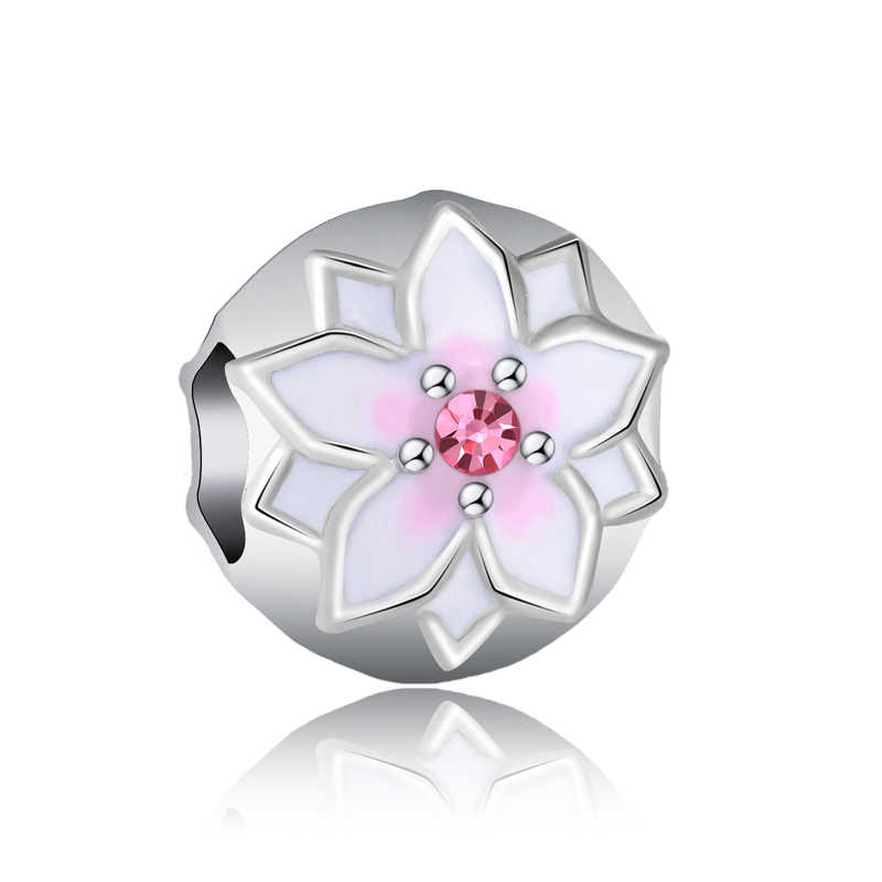 De Lujo cristal Flor Mariposa Luna amor corazón Mickey perla simulada del encanto de Pandora pulseras para las mujeres de la joyería de DIY regalo