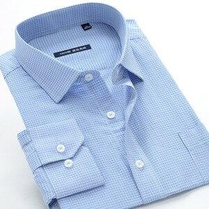 Image 3 - Классическая мужская рубашка в клетку, 5XL, 6XL, 7XL, 8XL, 9XL, 10XL, большие размеры, деловая Повседневная модная хлопковая рубашка с длинными рукавами, Мужская брендовая одежда
