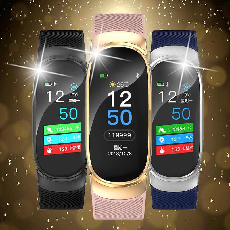 BANGWEI 女性スマート防水スマート腕時計メンズ心拍数血圧スポーツウォッチ歩数計時計アンドロイド Ios 用