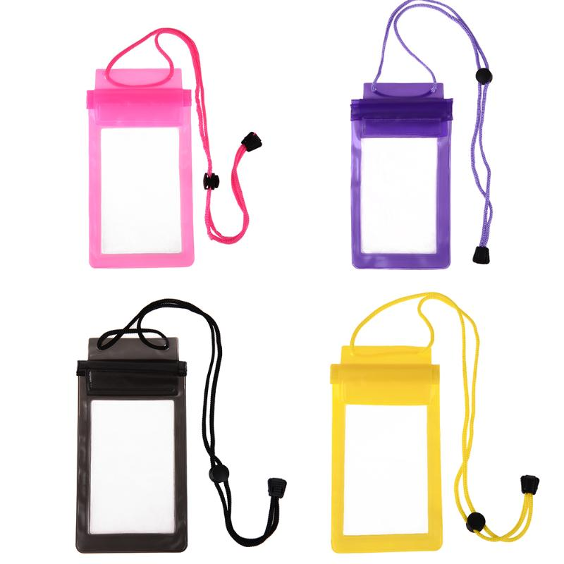 Strong 3 Layer Sealing Waterproof Smart Phone Pouch Bag For Water Sport
