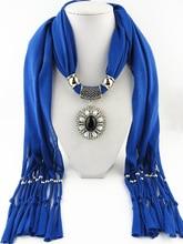 Collares de moda para para 2014 mantón de la estola suave del abrigo de seda del poliester bufandas grano de la resina del encanto collares largos colgantes F055