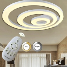 3 2 1 ring LED modern acrylic ceiling lamps indoor decorative lighting free shipping