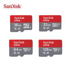 SanDisk Micro SD Card 16G 32G 64G 128G C10 U1 A1 การ์ดหน่วยความจำ Micro Card สำหรับโทรศัพท์คอมพิวเตอร์ SDXC SDHC ความเร็ว 98 เมตร/วินาที