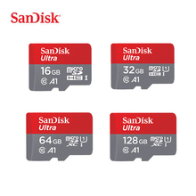 SanDisk MicroSD карты 16 ГБ 32 ГБ, 64 ГБ, 128 г C10 U1 A1 слот для карт памяти Micro SD карты для телефона компьютера SDXC карты памяти SDHC скорость до 98 м/с