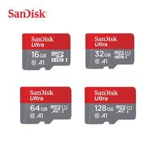 Tarjeta Micro SD SanDisk 16G 32G 64G 128G C10 U1 A1 tarjeta de memoria Micro tarjeta para teléfono SDXC SDHC velocidad de hasta 98 M/s