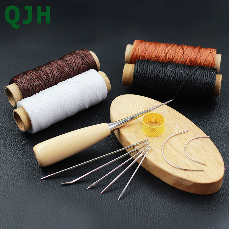 Bookbinding Leather Stitching Tools Set Sewing Special Needles Awl 150D Waxed Thread For DIY Handmade Craft Supplies Accessories