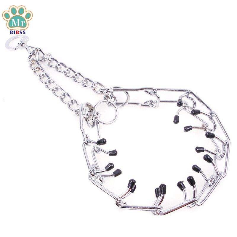 Durable Metal Dog Collars Training Pinch Collar Unique Desaign Cat Collars Pet Supplies Silver Color S M
