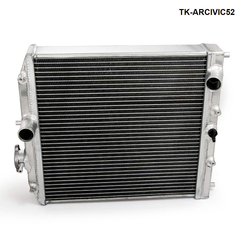 FOR 92-00 Honda Civic D15 D16 B16 B18 42Mm 2Row Dual Core Manual Aluminum Radiator